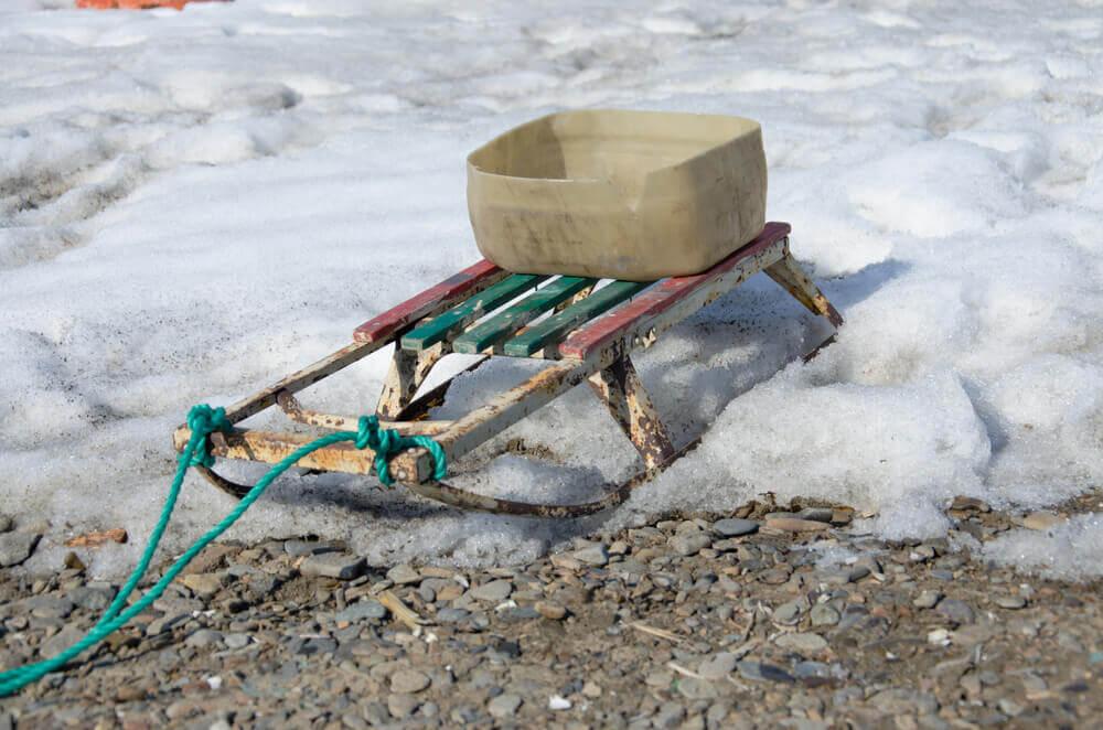Homemade Ice Fishing Sled